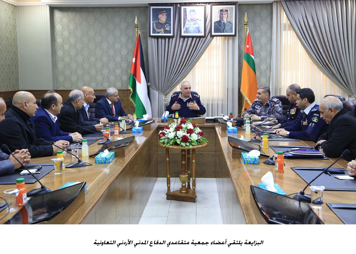 البزايعة يلتقي أعضاء جمعية متقاعدي الدفاع المدني الأردني التعاونية